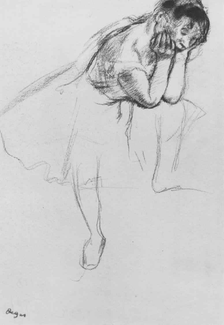 Эдгар Дега. Балерина с выставленной левой ногой
