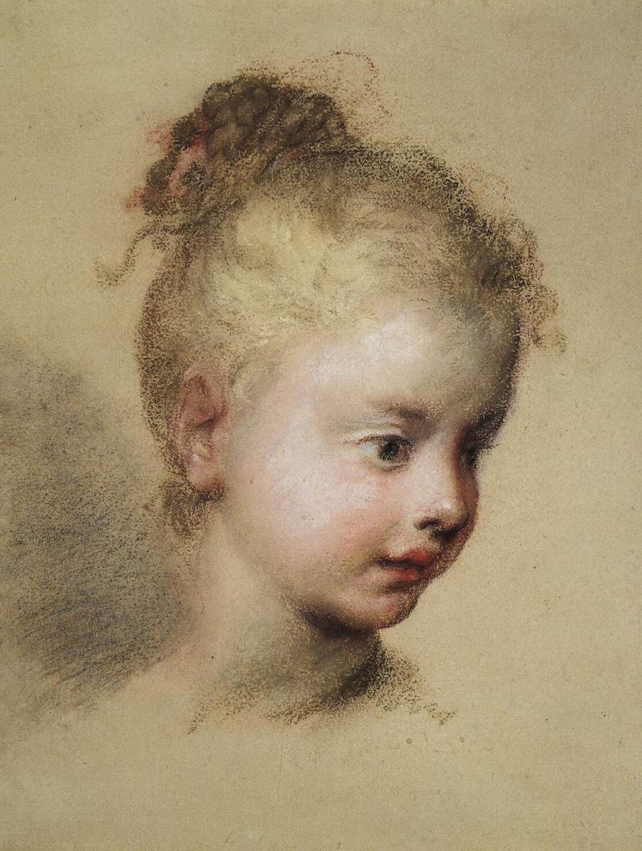 Розальба Каррьера (Каррера). Детская голова в профиль
