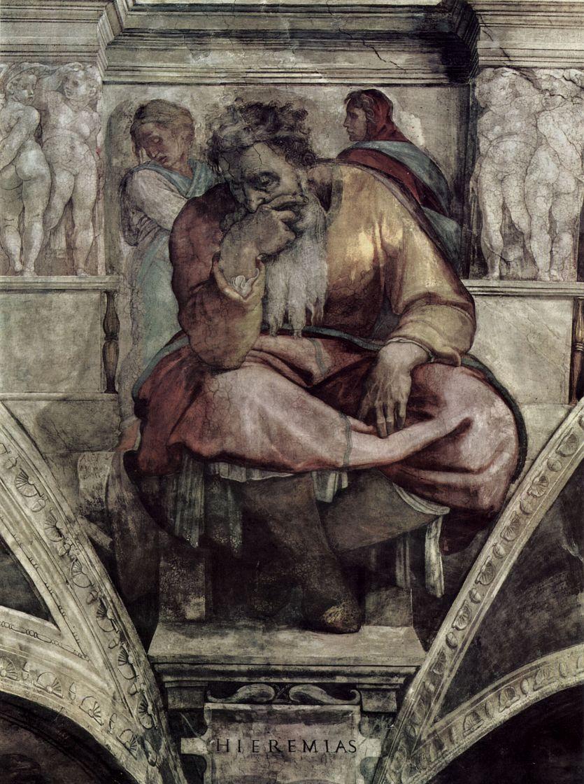 Микеланджело Буонарроти. Пророк Иеремия