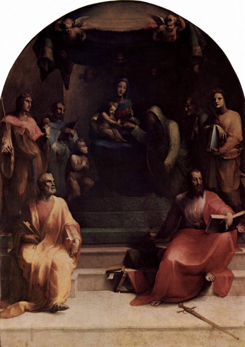 Доменико Беккафуми. Мистическое обручение св. Екатерины Сиенской с Христом