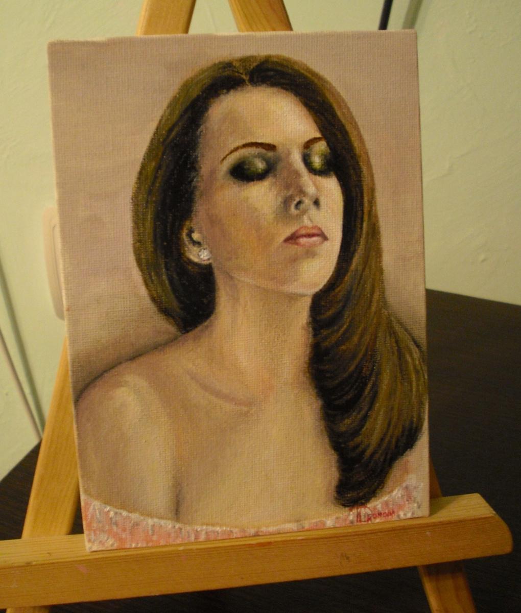 Tatyana Mikhailovna Tevlina (Dronova). Self-portrait