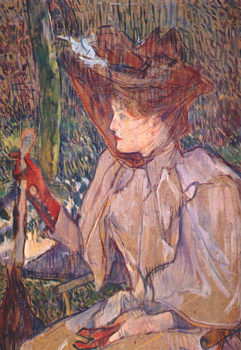 Анри де Тулуз-Лотрек. Женщина с перчатками