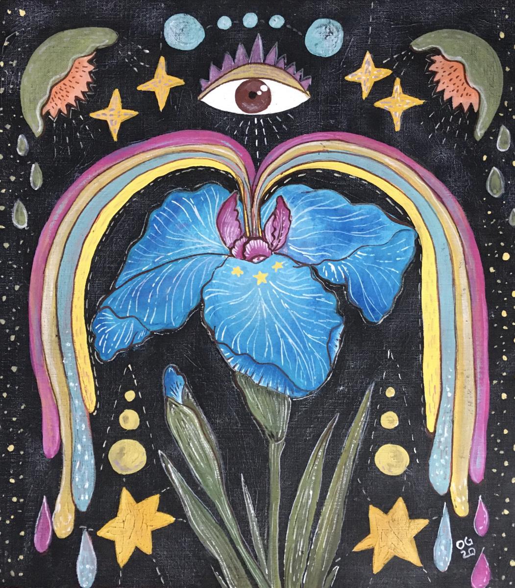 Oksana Gracheva. Rainbow iris