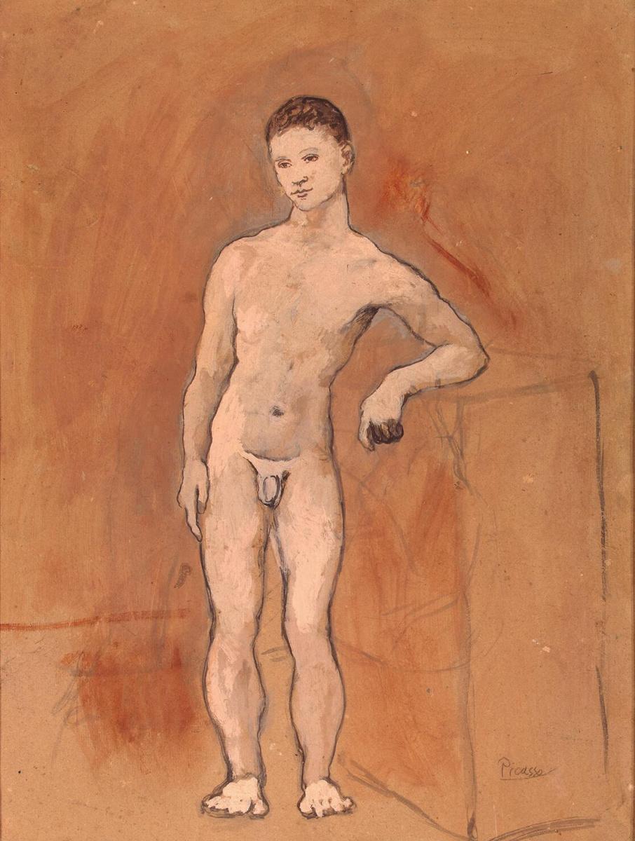 Пабло Пикассо. Обнаженная фигура юноши