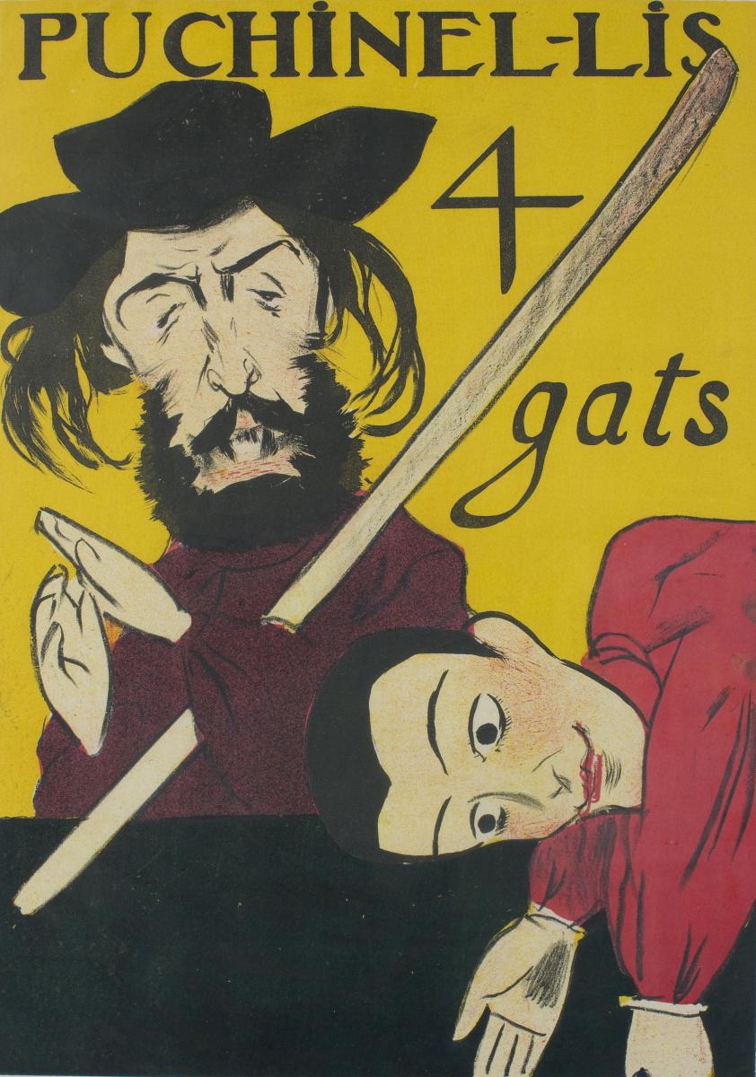 """Рамон Касас Карбо. Постер """"Puchinel lis"""". Театр марионеток """"4 кота"""""""