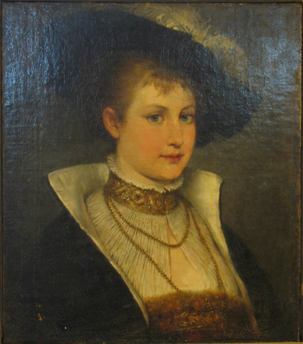 Robert Beyshlag. Lady in hat