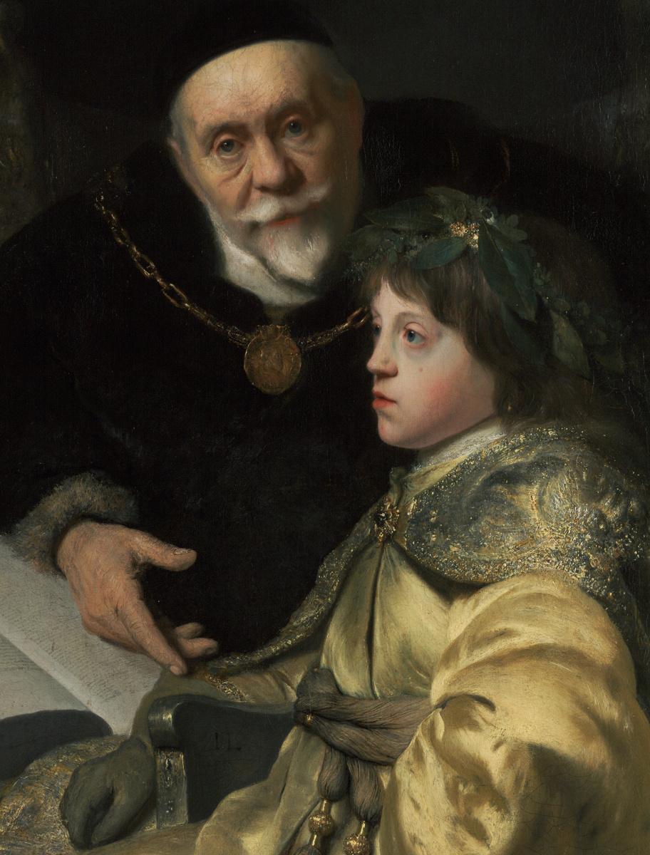 Ян Ливенс. Принц Чарльз Луи из Пфальца со своим учителем Вольрадом фон Плесеном. Фрагмент