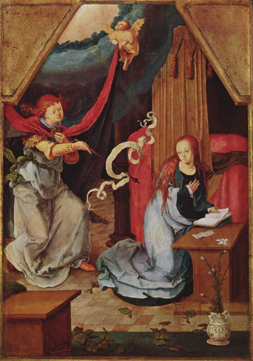 Лукас ван Лейден (Лука Лейденский). Благовещение Марии