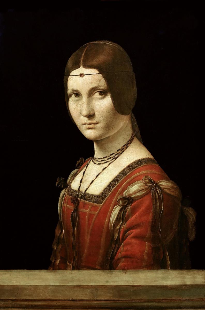 Leonardo da Vinci. Beautiful ferronera (Portrait of unknown)