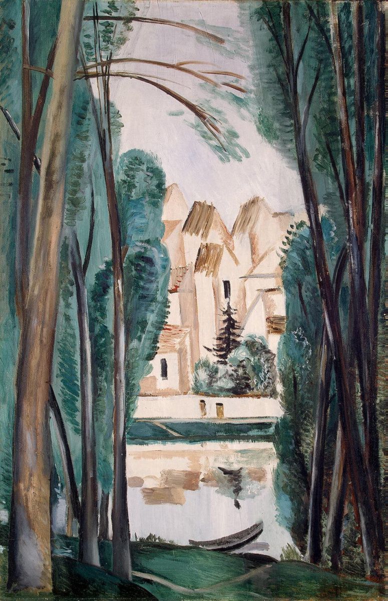 Андре Дерен. Пейзаж с лодкой у берега