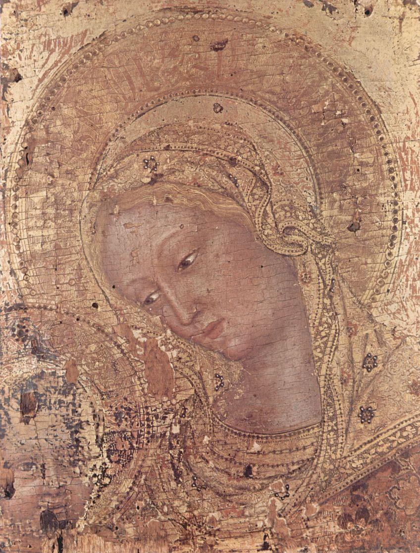 Джентиле да Фабриано. Мадонна, фрагмент