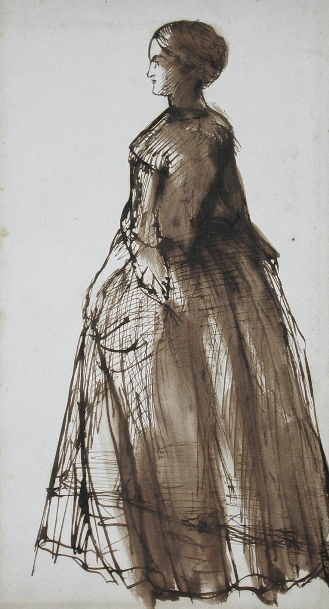 Данте Габриэль Россетти. Профиль стоящей женщины