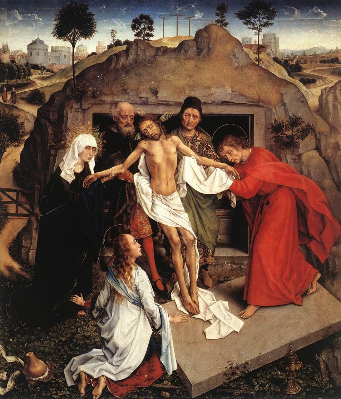 Рогир ван дер Вейден. Положение во гроб Христа