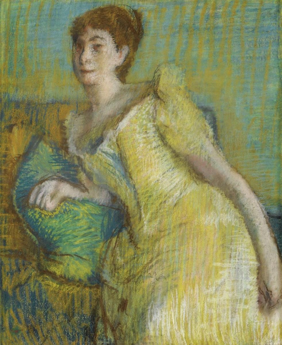 Edgar Degas. Woman in yellow dress