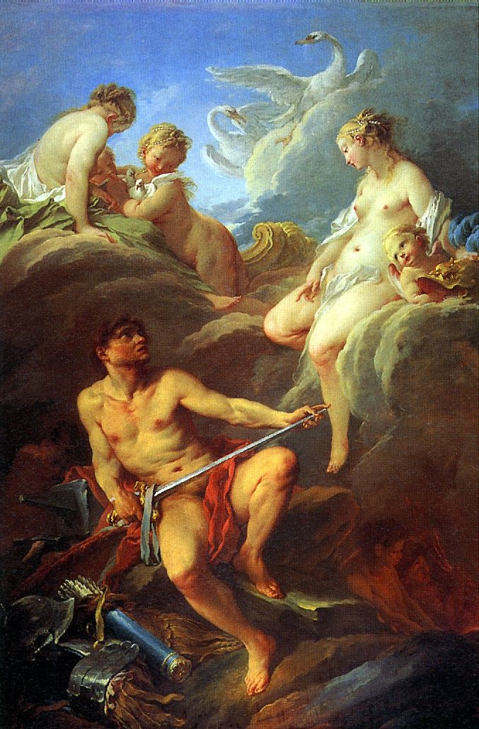 Francois Boucher. Venus, begging the Vulcan weapons for Aeneas
