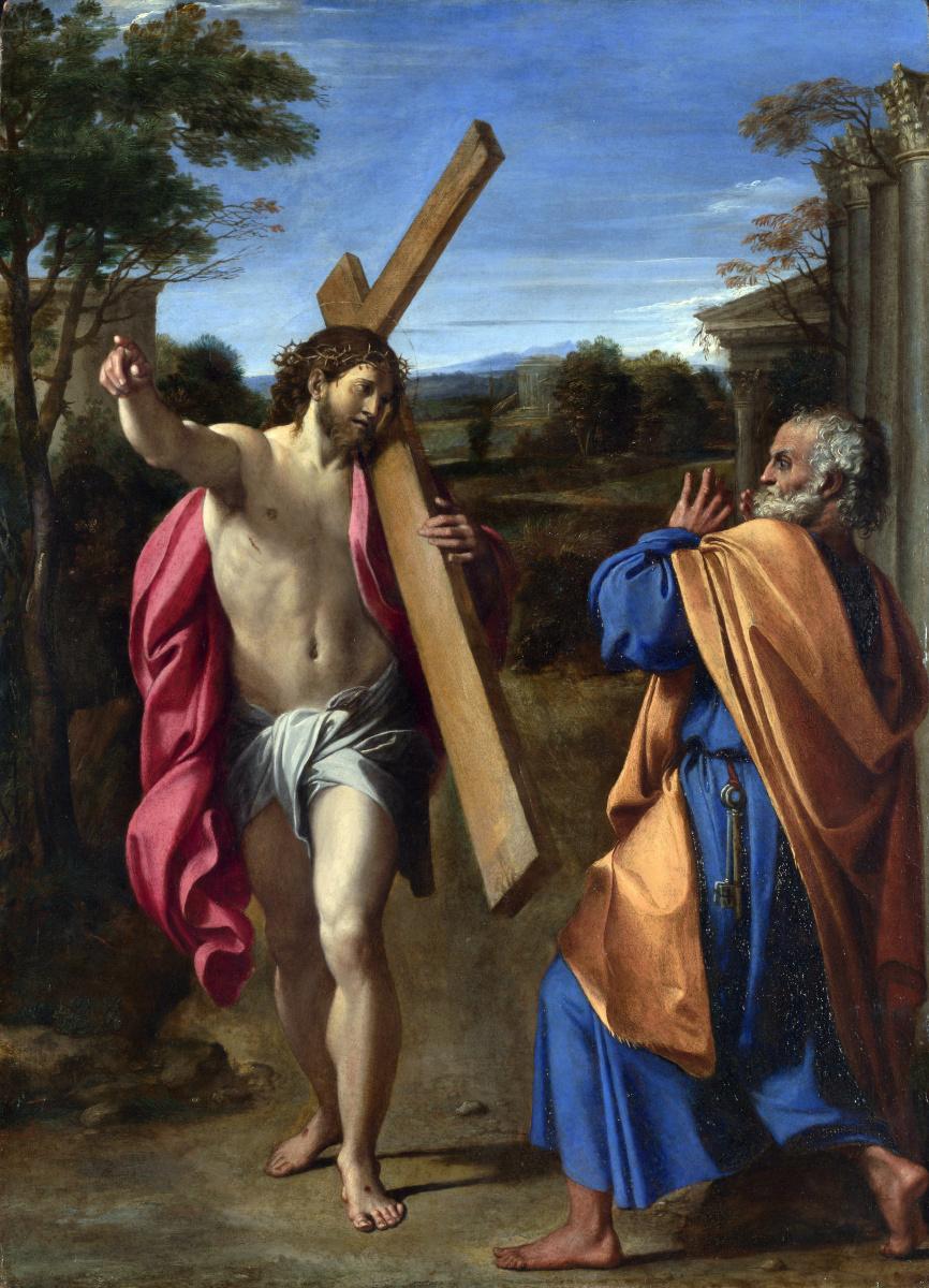 Аннибале Карраччи. Явление Христа Святому Петру на Аппиевой дороге