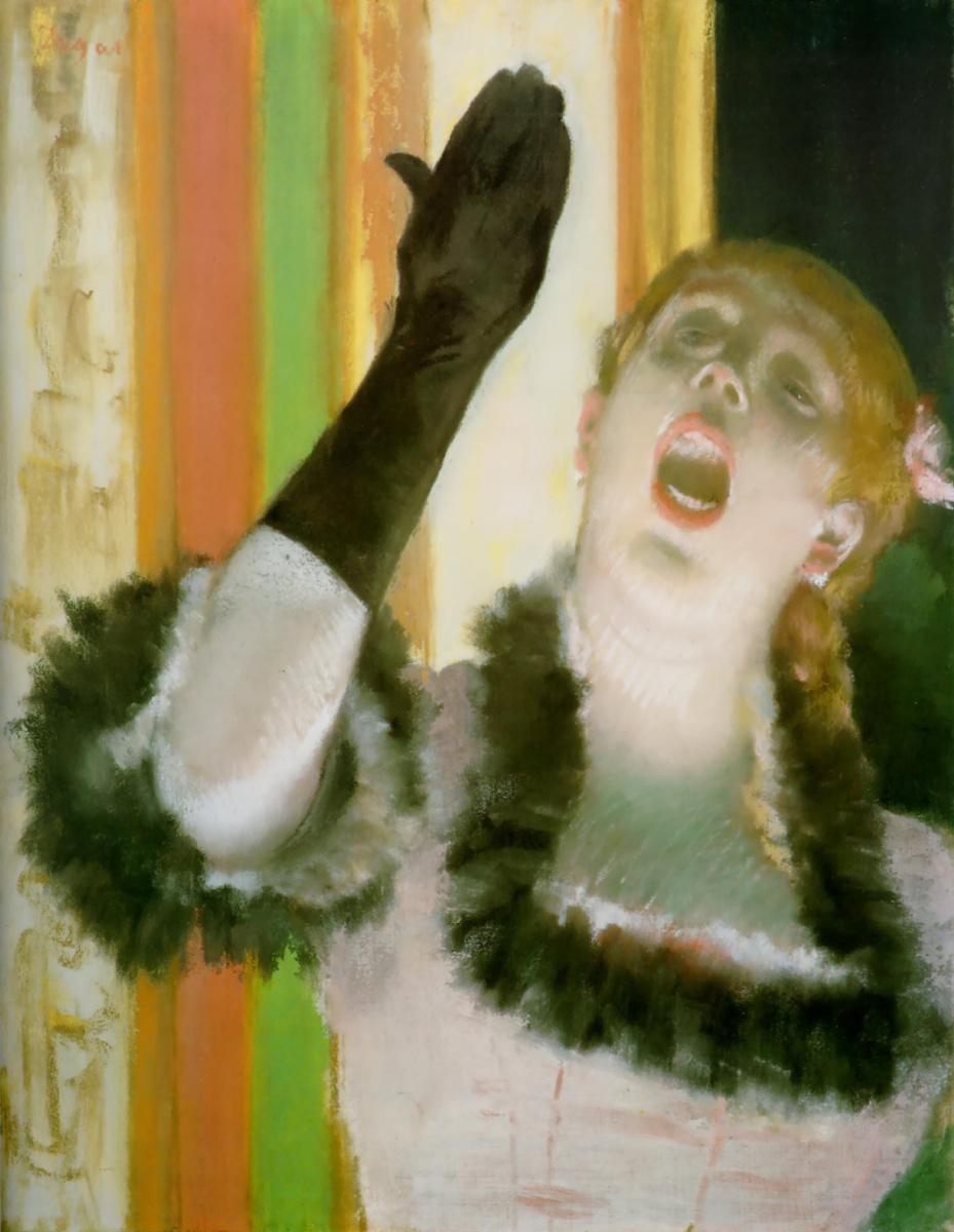 Эдгар Дега. Певица с перчаткой