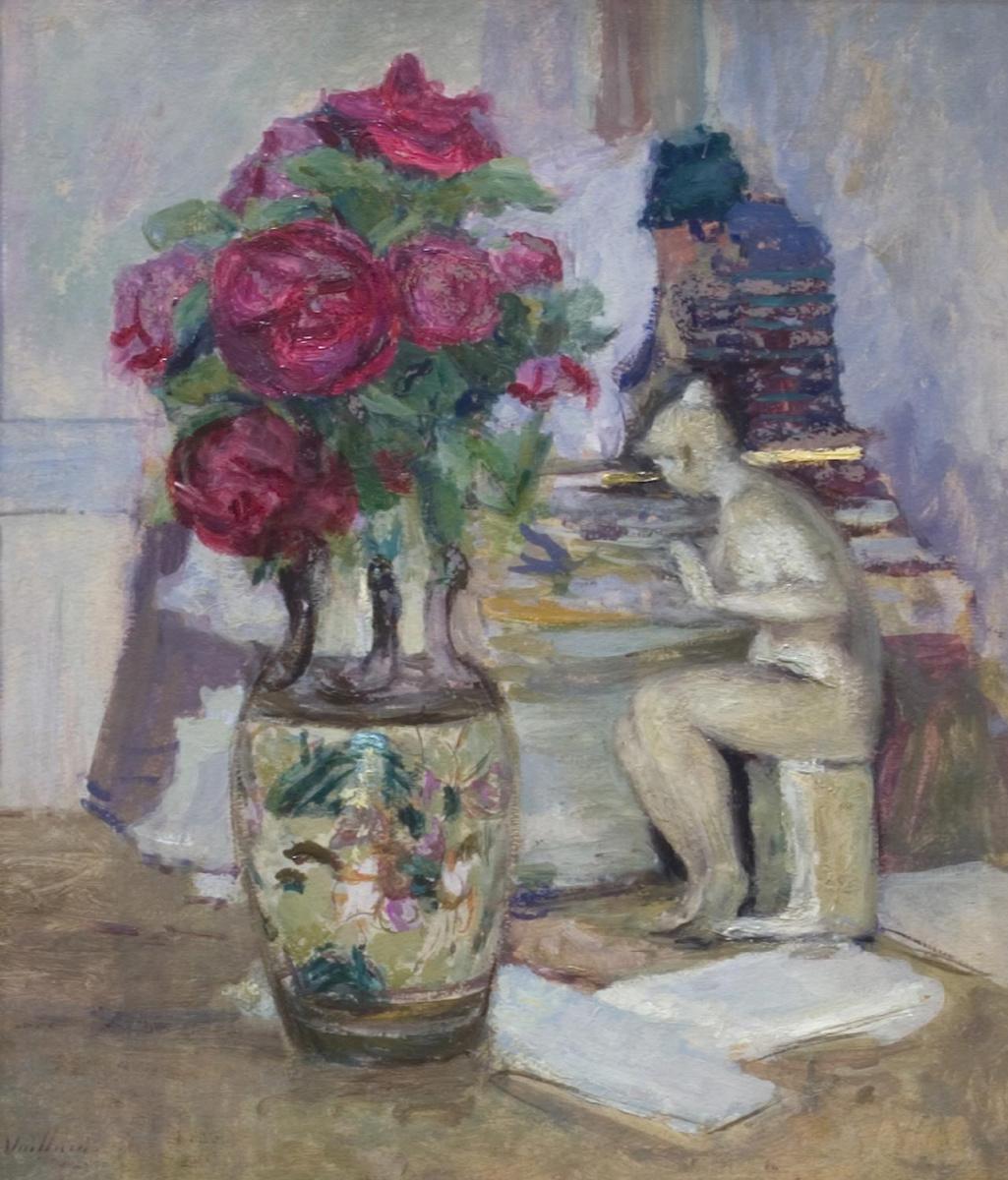 Jean Edouard Vuillard. A bouquet of flowers and Leda