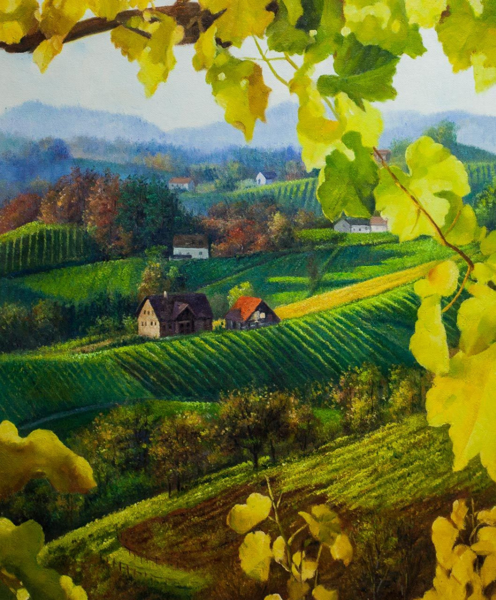 Alexander Romm. Landscape with vine