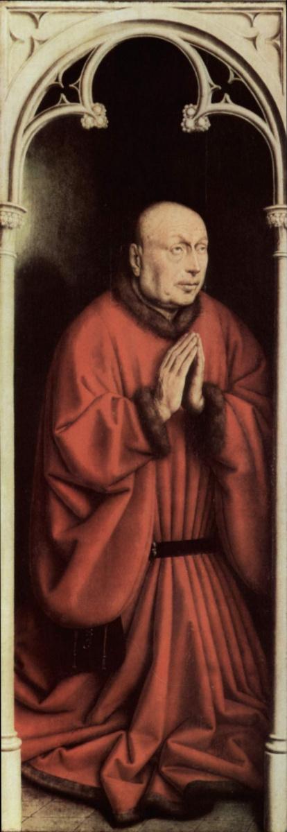 Хуберт ван Эйк. Портрет заказчика. Гентский алтарь, фрагмент.