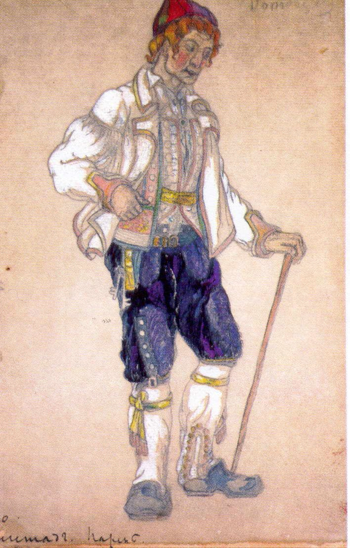 """Nicholas Roerich. Guy. Hegstad. Sketch for the play """"peer Gynt"""" by H. Ibsen"""