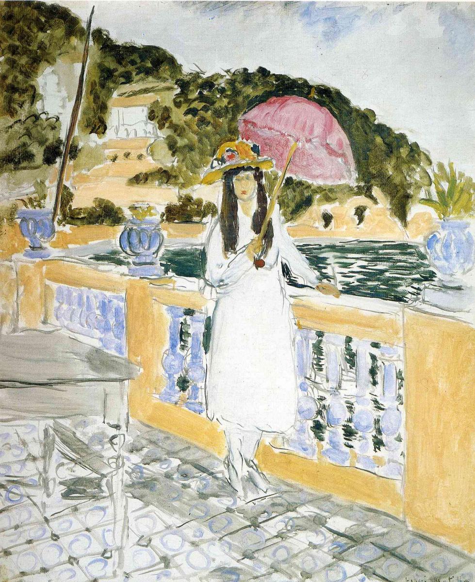 Анри Матисс. Девушка с зонтом от солнца