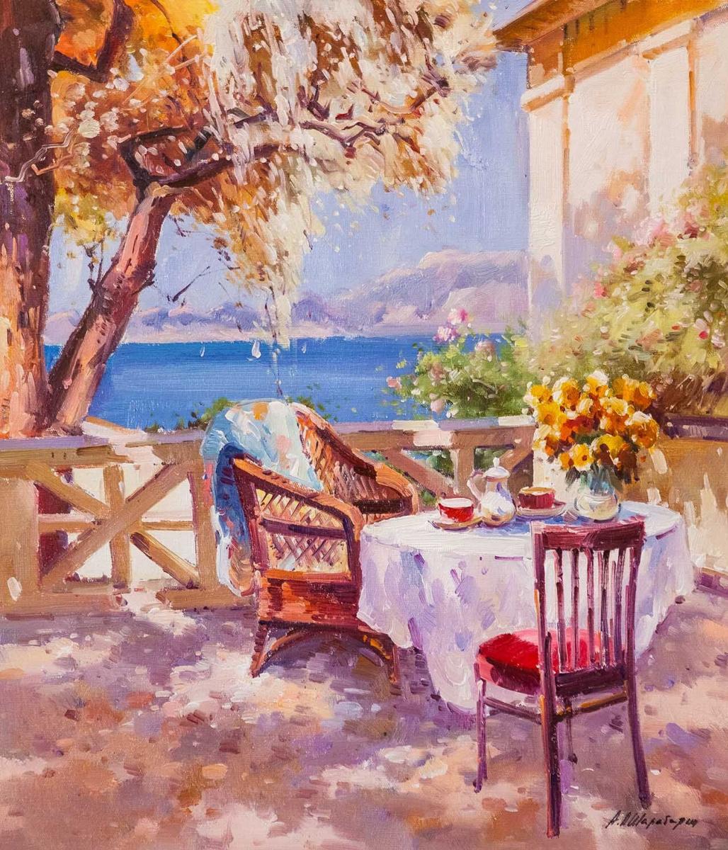 Andrey Sharabarin. On the summer terrace