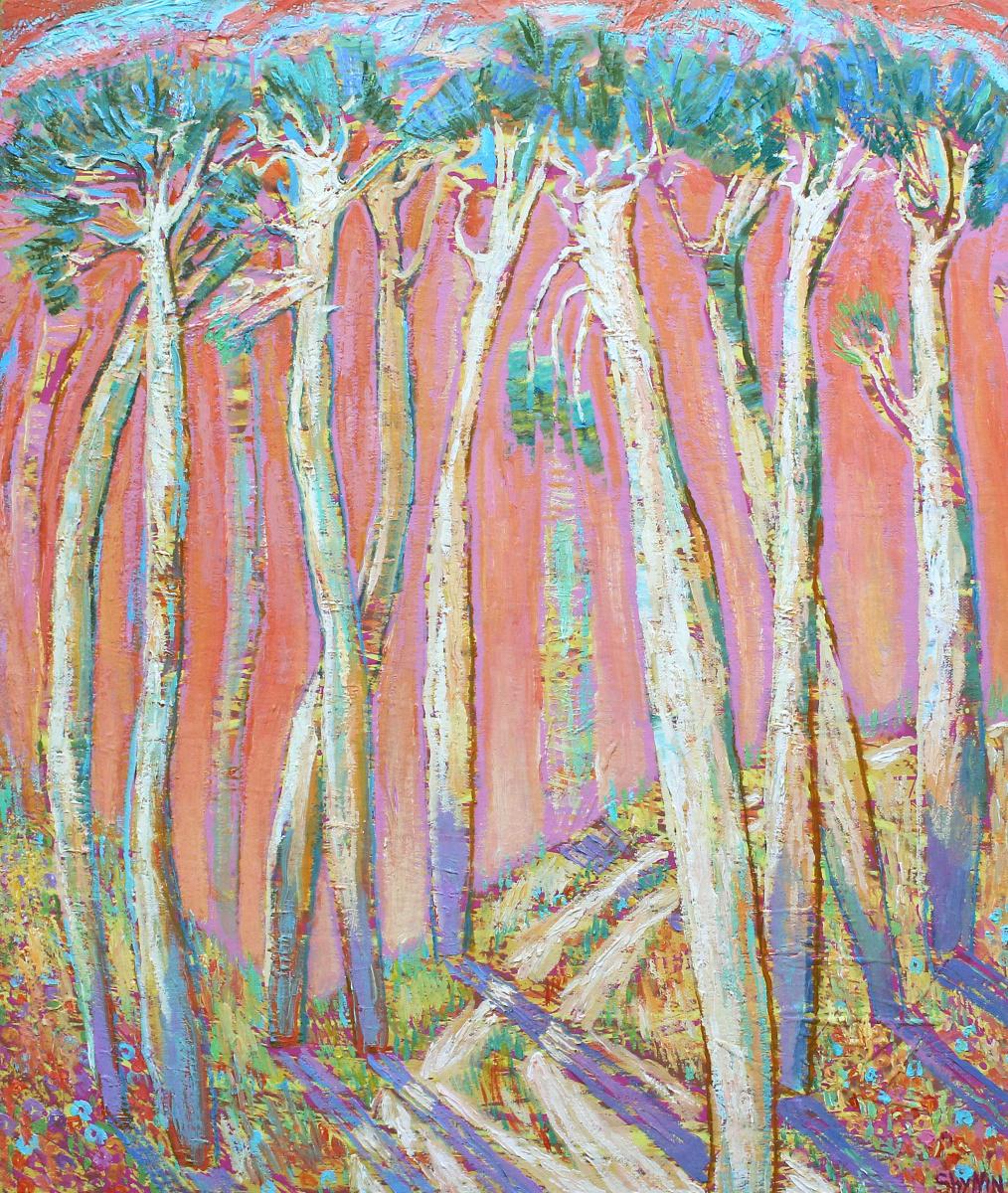 Alexander (Александр) Stepanovish (Степанович) Shynin (Шинин). Солнце в сосновом лесу
