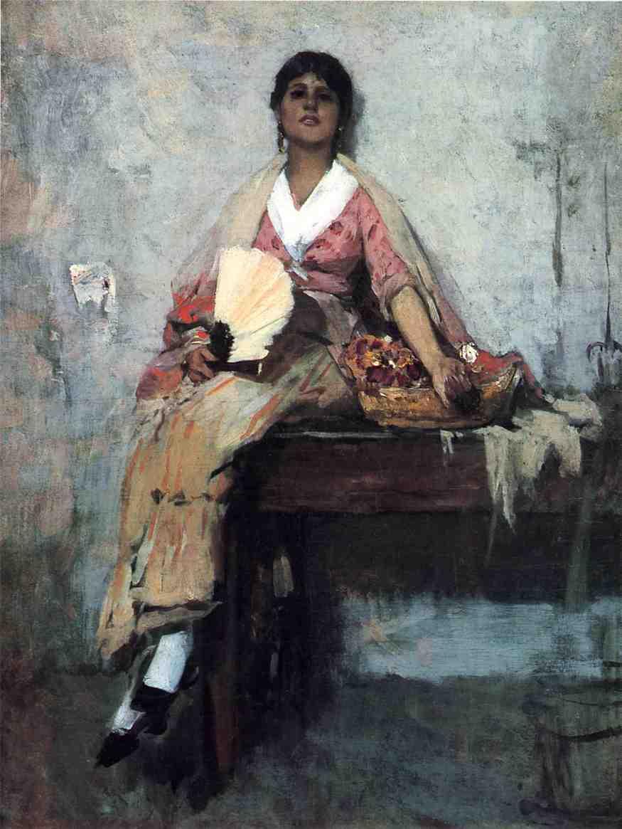Фрэнк Дувенек. Девушка с цветами