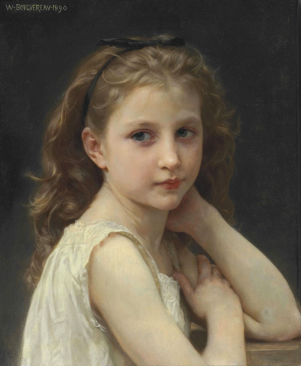 William-Adolphe Bouguereau. The girl's head