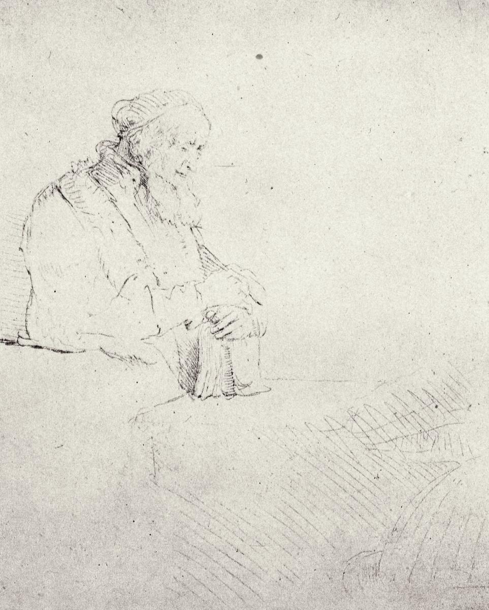 Рембрандт Харменс ван Рейн. Задумавшийся старик