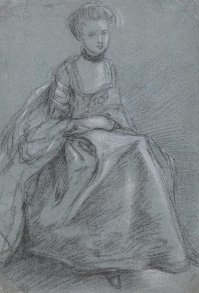 Томас Гейнсборо. Сидящая женщина