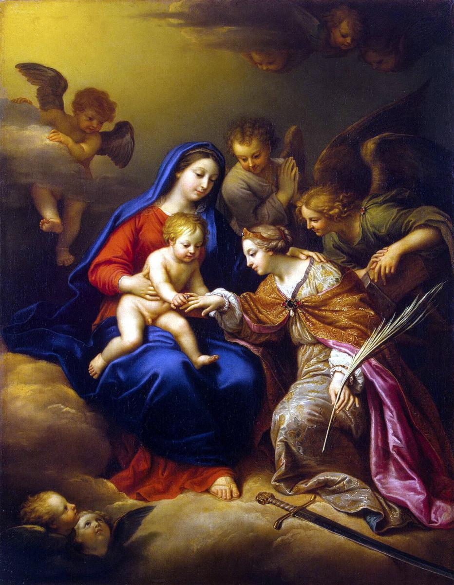 Пьер Миньяр. Обручение Святой Екатерины