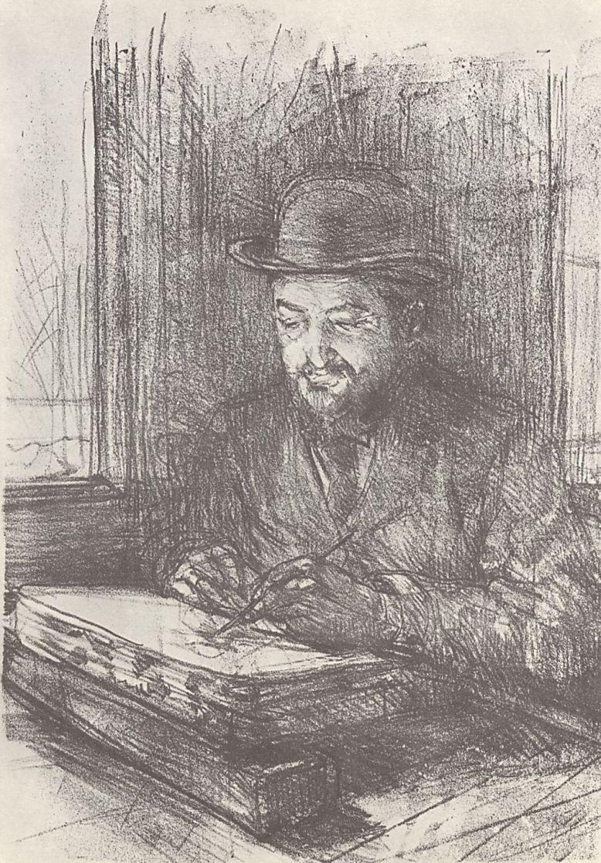 Анри де Тулуз-Лотрек. Портрет Адольфа Альбера