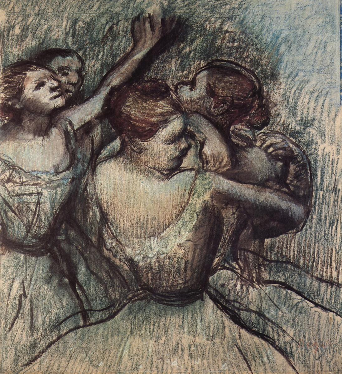 Edgar Degas. Four ballerinas