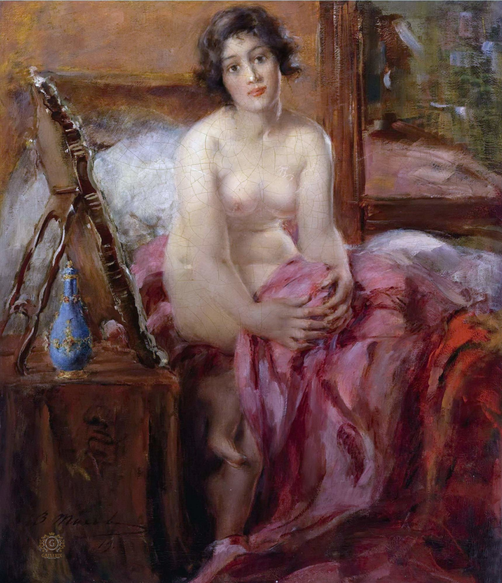 Виталий Гаврилович Тихов. Портрет обнажённой. 1919