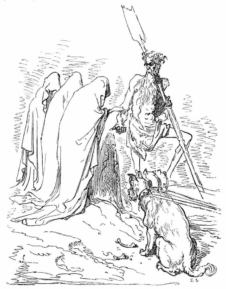 """Поль Гюстав Доре. Иллюстрация к """"Рейнской мифологии"""" Сантина"""