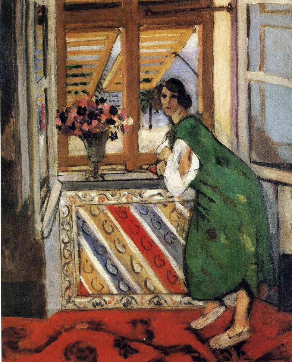 Анри Матисс. Женщина в зеленом у окна