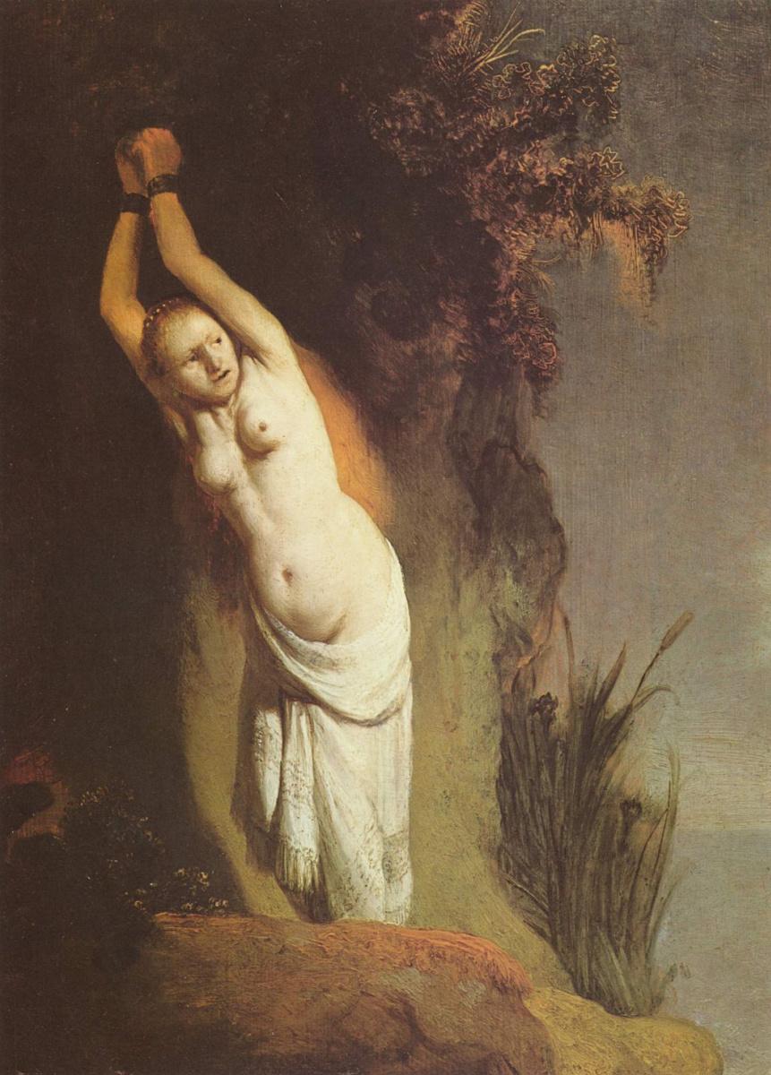 Рембрандт Харменс ван Рейн. Андромеда, прикованная к скале