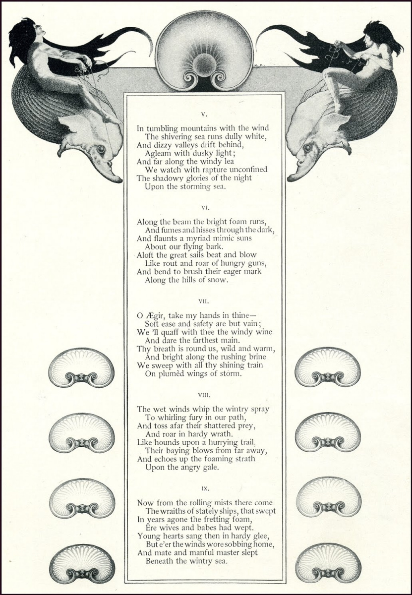 """Максфилд Пэрриш. Дизайн страницы для журнала """"Скрибнер и столетие"""" V"""