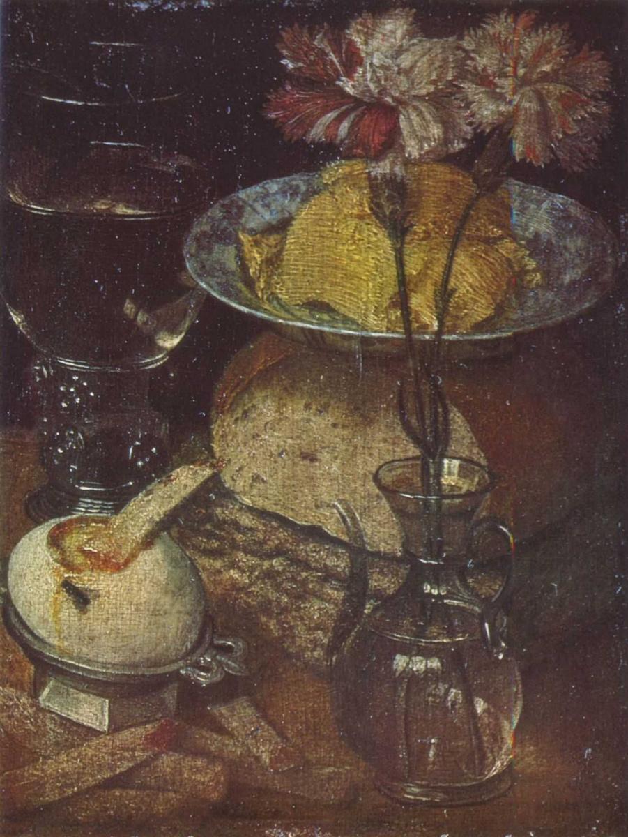 Георг Флегель. Натюрморт с гвоздиками