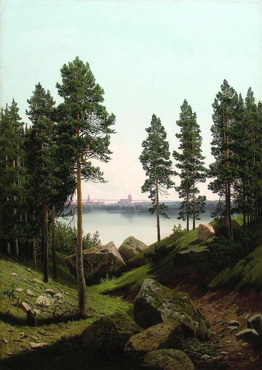Арсений Иванович Мещерский. Пейзаж с озером