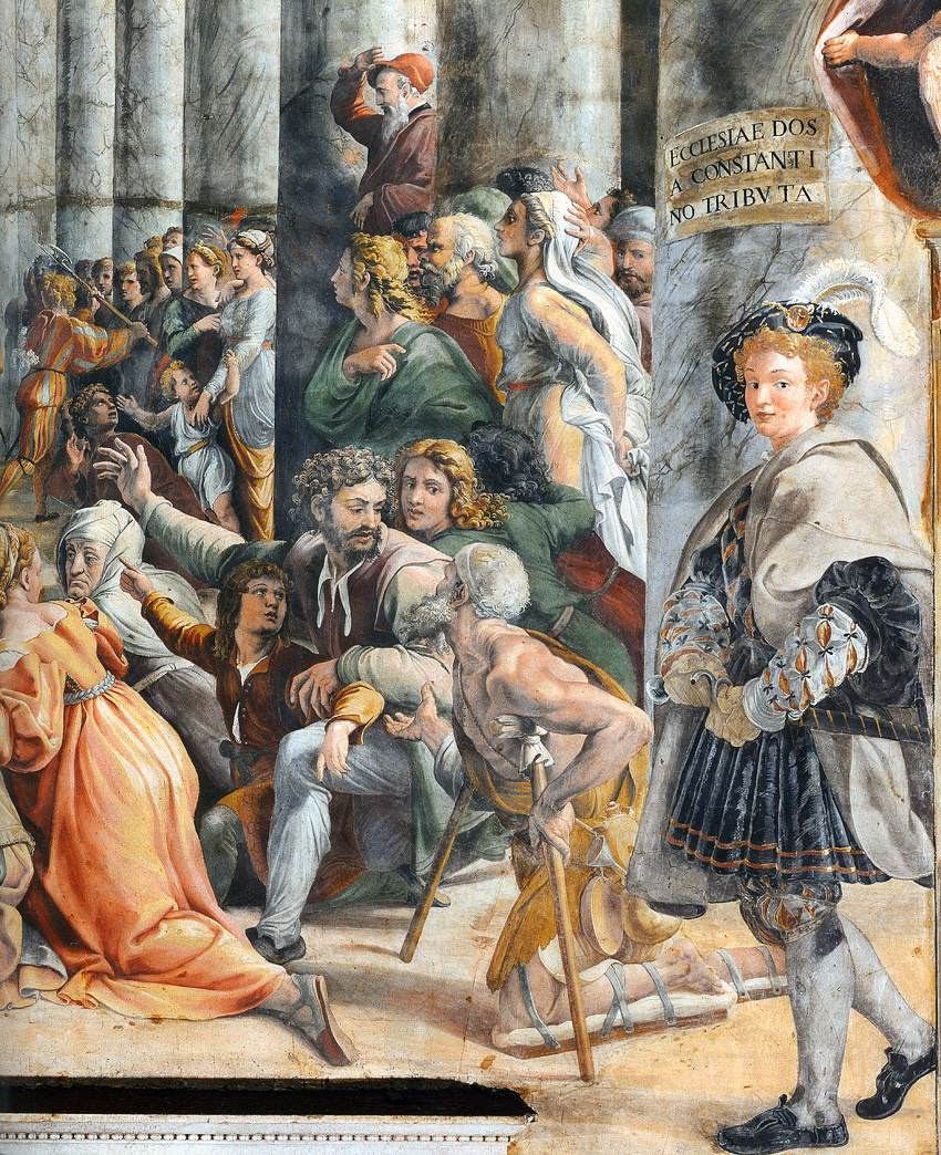 Raphael Sanzio. Fresco the hall of Constantine Palace of the Pope in the Vatican. The Donation Of Constantine. Fragment