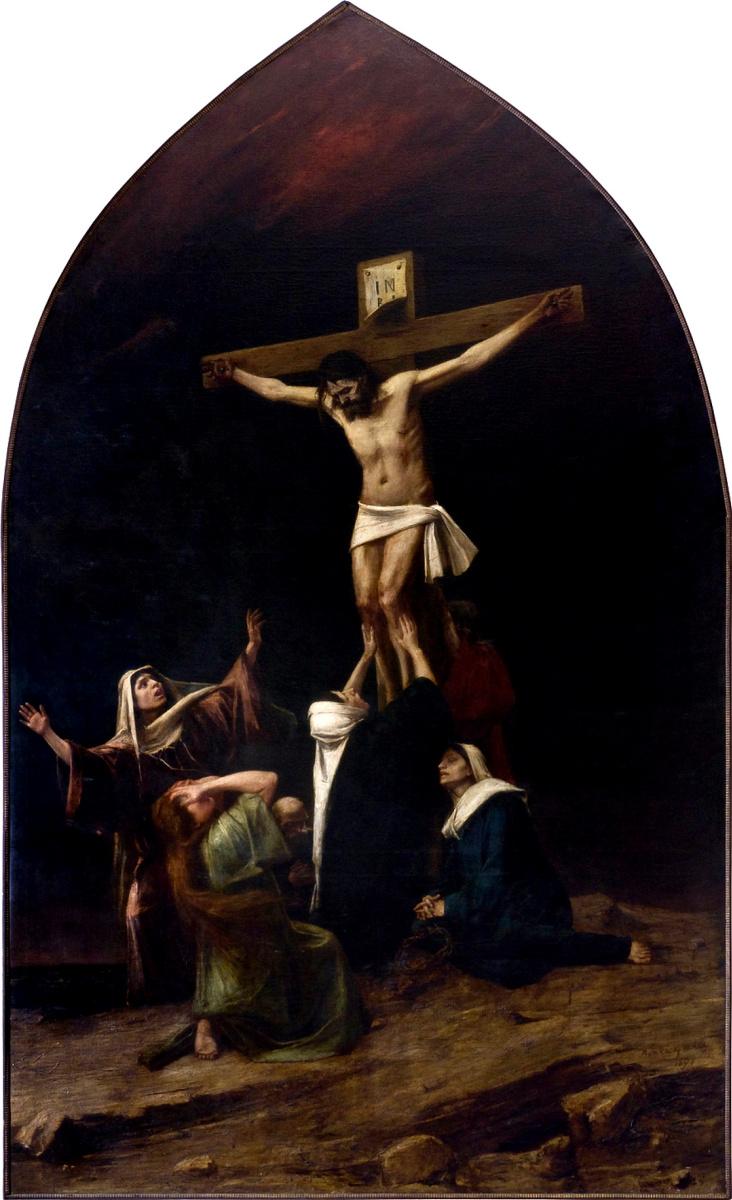 Михай Либ Мункачи. Рыдающие женщины у подножия креста