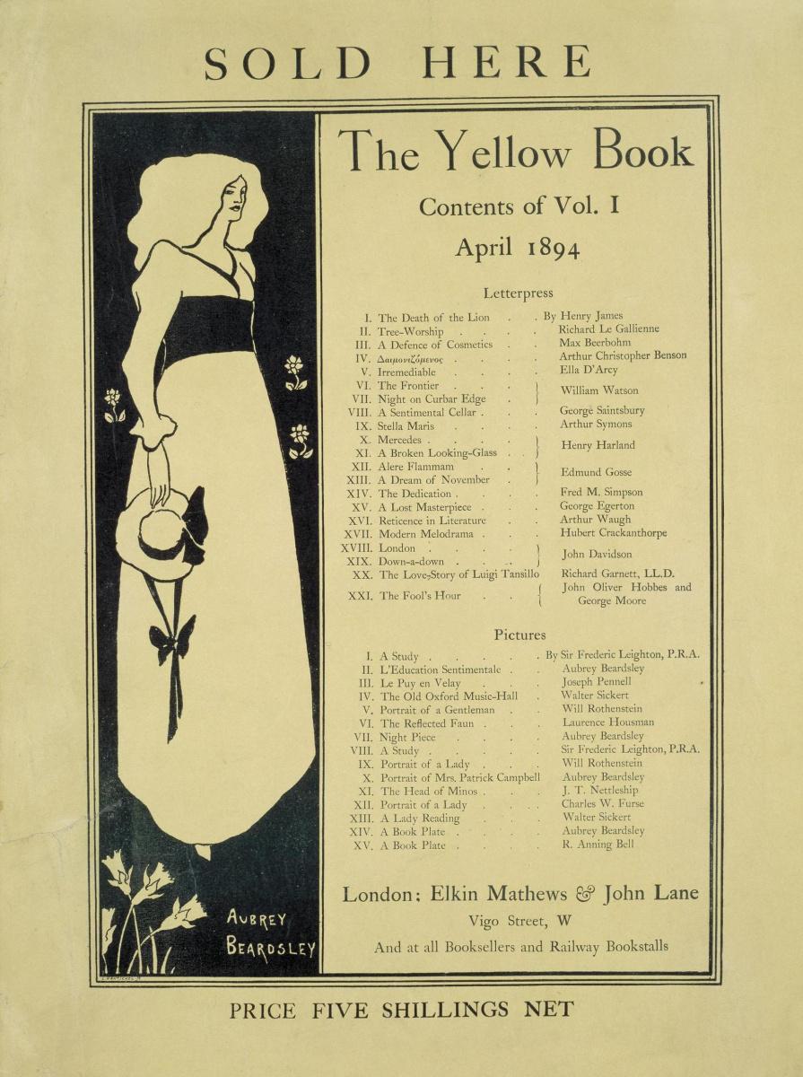 """Обри Бердслей. Страница из журнала """"Желтая книга"""""""