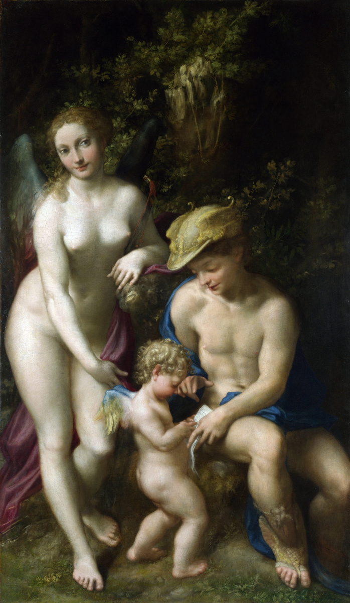 Антонио Корреджо. Венера с Меркурием и Амур