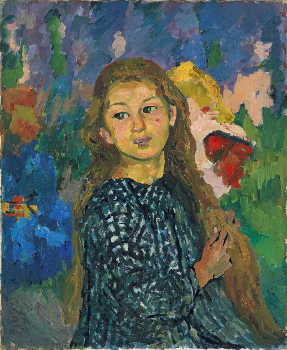 Giovanni Giacometti. The Portrait Of Ottilie Giacometti