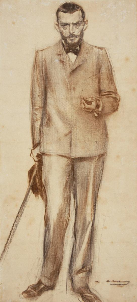 Рамон Касас Карбо. Портрет Хосепа Ллимоны