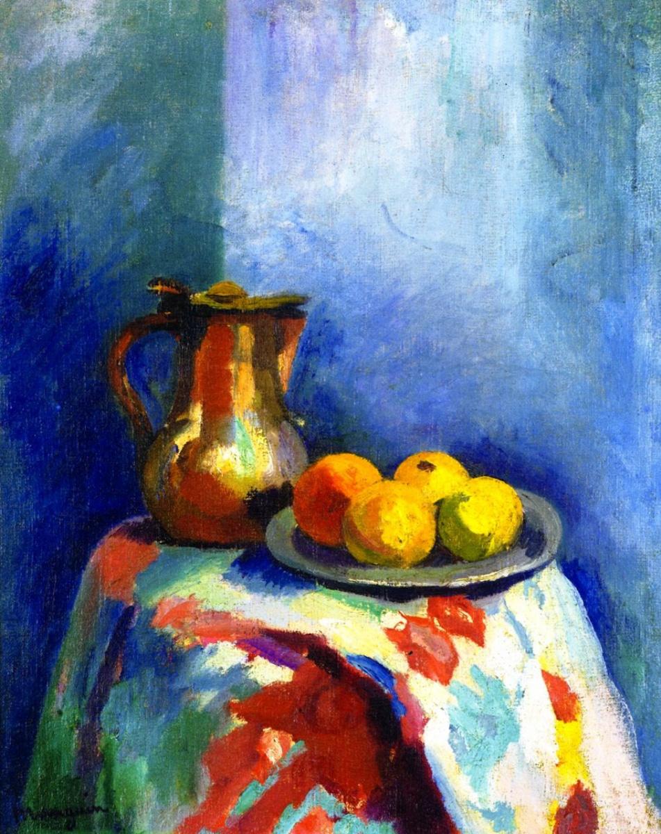Henri Manguin. Still life with copper jug