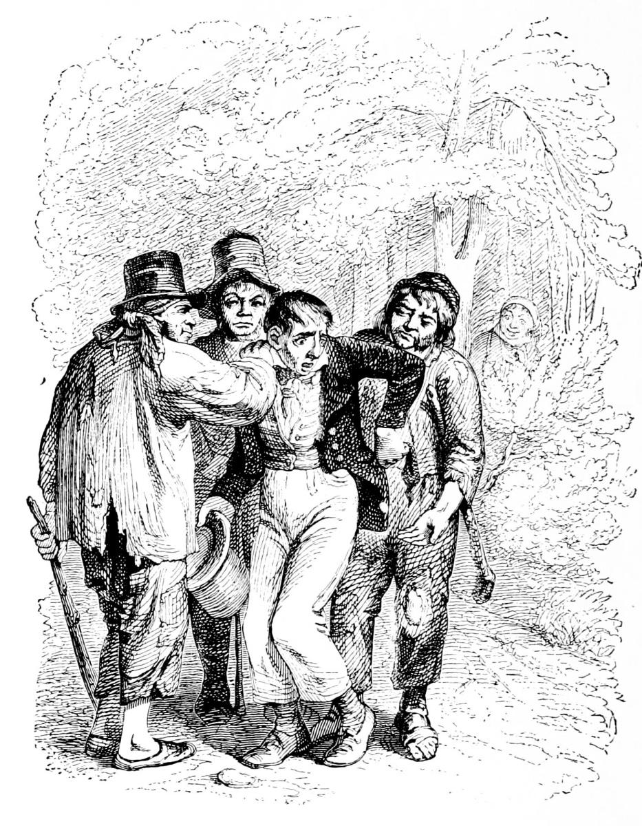 Жан Иньяс Изидор (Жерар) Гранвиль. Два путника. Иллюстрации к басням Флориана